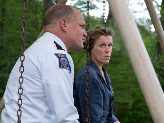 "Woody Harrelson and Frances McDormand in ""Three Billboards"