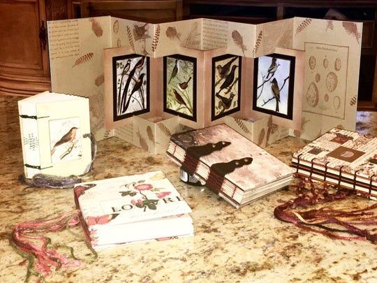 Billie Granneman showcases her art of book making design.