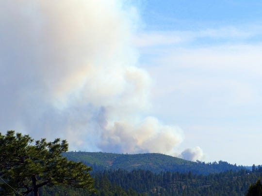 THe fire in Mescalero appeared to be spreading from