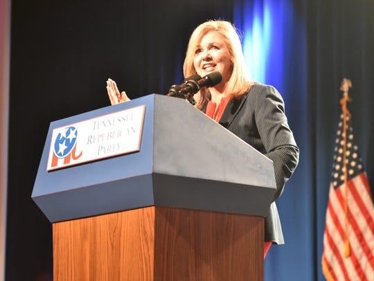 U.S. Rep. Marsha Blackburn speaks at the Tennessee