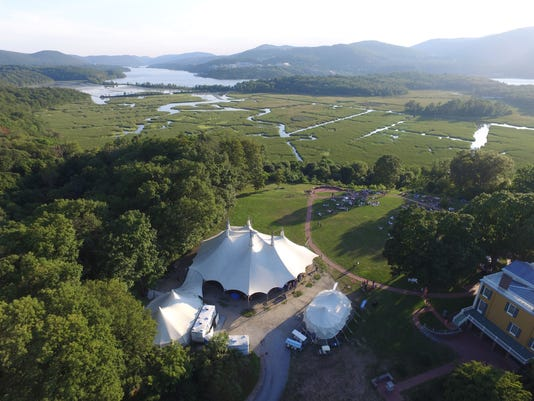 Tent at Boscobel Gardens