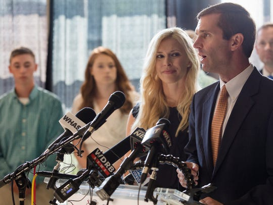 Attorney General Andy Beshear announces his campaign