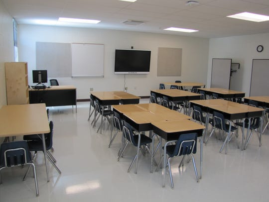 One of eight new classrooms at East Millsboro Elementary