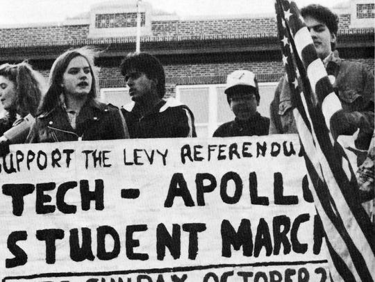 Students from Tech and Apollo, pictured in the 1990
