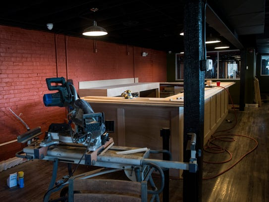 The upstairs bar area still under construction at Maiden's Brew Pub on Friday, Feb. 2, 2018. Owner John Mills hopes to open by the end of February.
