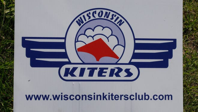A sign at the Plymouth Fair Grounds by the Wisconsin Kiters Club as seen Saturday August 16, 2014 in Plymouth.