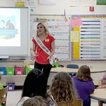 Manitowoc students welcome visit from Alice in Dairyland Crystal Siemers-Peterman