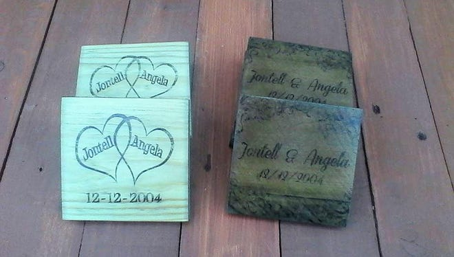 Designs from a laser printer can be transferred to the wood.