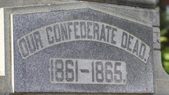 The Confederate monument on South Third Street in Louisville,