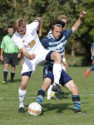 Hunter Nash, left, is among the seniors contributing to the success for Division 2 No. 9-ranked Haslett.