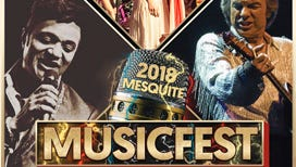 2018 Mesquite Music Fest Poster