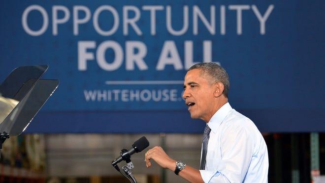 President Obama in Lanham, Md., on Jan. 29.