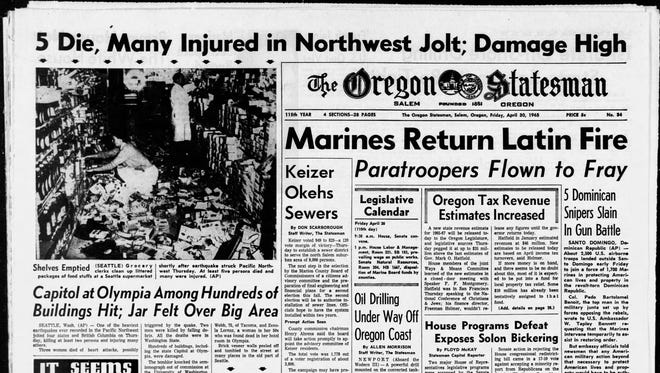 The front page of The Oregon Statesman on April 30, 1965, the day Statesman Journal columnist Capi Lynn was born.