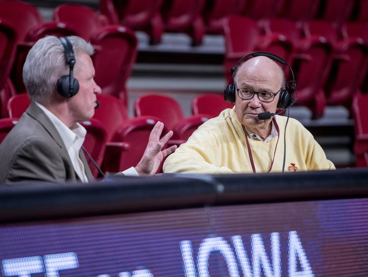 Iowa State broadcaster Rich Fellingham with Cyclones