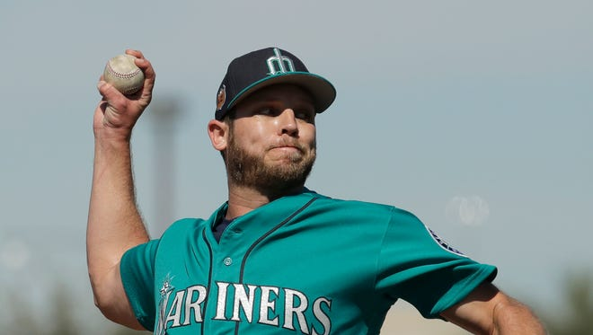 Hard-throwing Casey Fien is scheduled to make his Mariners debut Saturday out of the bullpen in the team's spring opener against San Diego.