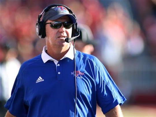 Louisiana Tech head coach Skip Holtz.