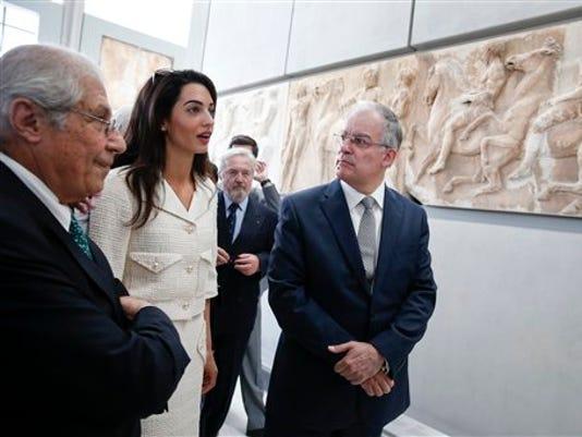 Amal Clooney,Konstantinos Tasoulas , Dimitris Pantermalis