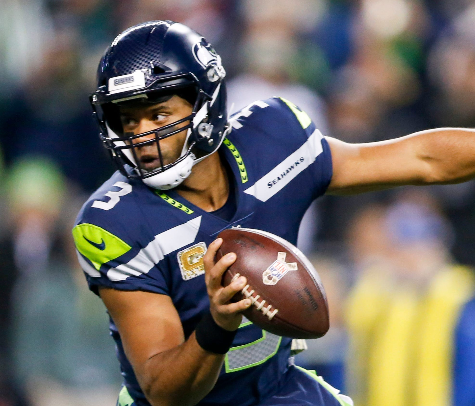Seahawks QB Russell Wilson was the team's leading rusher in 2017.