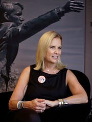 Kerry Kennedy, daughter of Robert F. Kennedy, on the eve of the 50th anniversary commemoration of her father's speech in Indianapolis, talks about her father Tuesday, April 3, 2018.