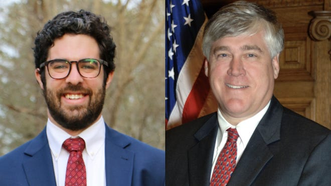 Zachary Perry, left, and Bill Cowsert, right, face off for the District 46 seat in the Georgia Senate.