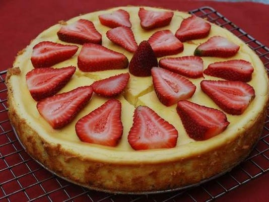 Strawberry rhubarb goat cheese cheesecake.jpg