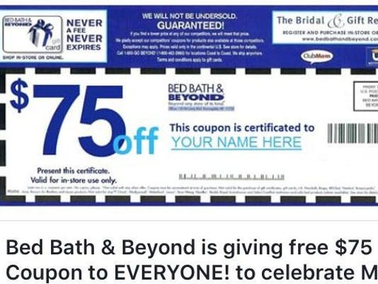 This 75 Bed Bath Beyond Coupon Is A Scam