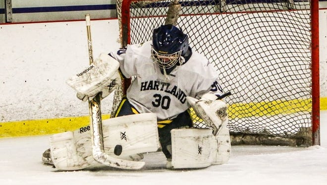 Brett Tome made 31 saves for Hartland in a 2-1 victory over Hancock Friday afternoon.