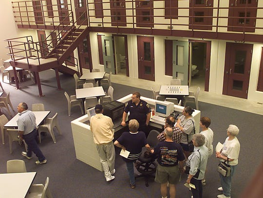 People tour the new Brown County Jail and Juvenile