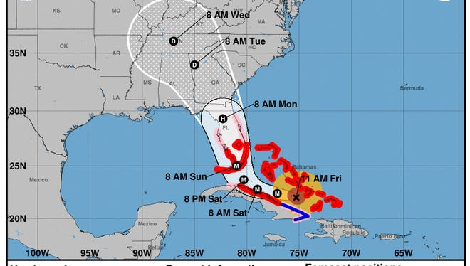 Hurricane Irma track Friday, Sept. 8 at 11 a.m.
