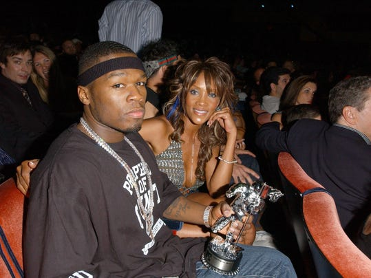 Cent and and Vivica Fox