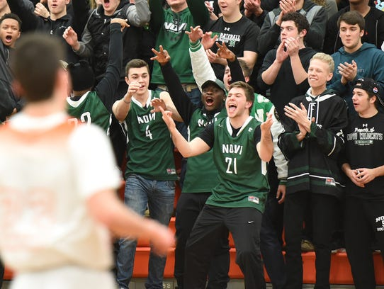Novi Wildcat fans were celebrating early as their team