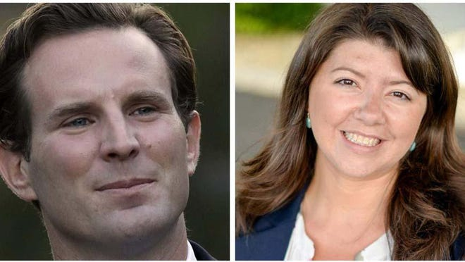Deaglan McEachern, left, and Rebecca Perkins Kwoka, both Portsmouth Democrats, are competing in the New Hampshire state primary in Senate District 21.