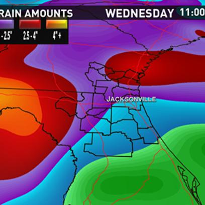 Rain sticks around through Wednesday