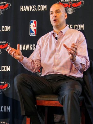Hawks general manager Danny Ferry, shown in May 2013, has drawn scrutiny for comments about free agent Luol Deng this offseason.