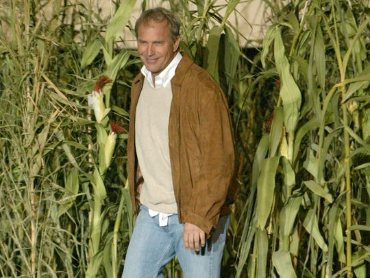 "Kevin Costner emerged from the corn -- in California -- for a 2004 event to launch a special 15th anniversary DVD release of ""Field of Dreams."""