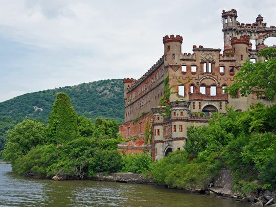 One of the more bizarre attractions along the Hudson River is Bannerman Castle, a crumbling castle built by Scottish-born Francis Bannerman in the early twentieth century.
