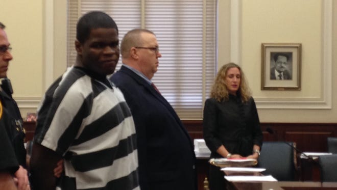 Terrell Tooles in Hamilton County Common Pleas Court Wednesday for his sentencing.