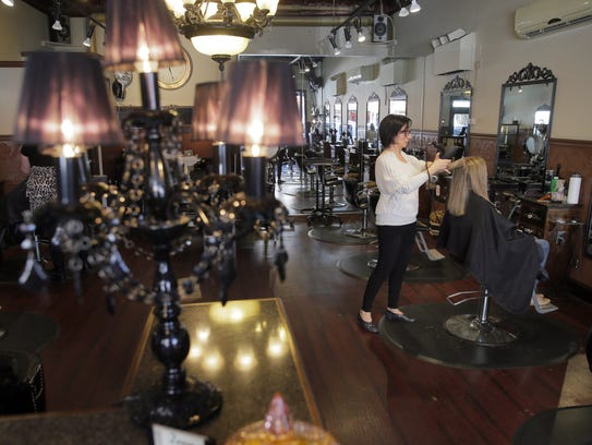 Interior of the Zoom Hair Studio on Monmouth Street