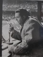 South Nyack's Bob Wolff, seen here broadcasting a football