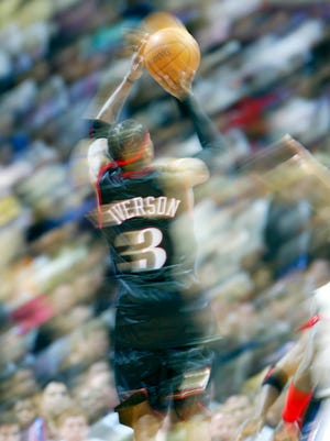 Allen Iverson's No. 3 jersey made quite an impression on the 76ers and the NBA.