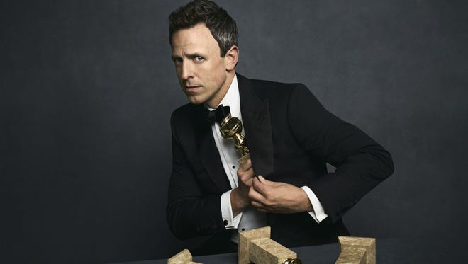 NBC's 'Late Night' host Seth Meyers will preside over the 75th annual Golden Globe Awards Jan. 7.