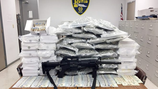 A late night traffic stop by Bowie Police Thursday night along U.S. Highway 287 discovered a Hutto, Texas, man transporting more than $200,000 worth of marijuana and THC vapor oil.