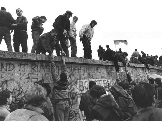 berlin wall life on the inside Before the wall came down, they were united now there is fragmentation they used to have a slogan east family visits west berlin, mid-november '89.