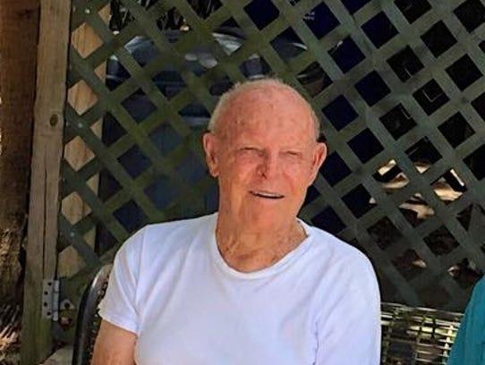 Bill Ludlow at his daughter Glinda's Alva house
