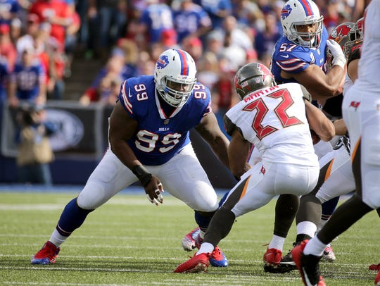 Bills Marcell Dareus looks to make the tackle on Buccaneers