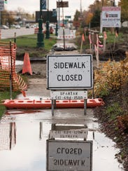 A pedestrian's view as changes continue on Ford Road.