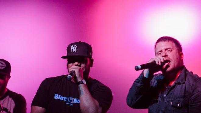 Brooklyn hip-hop artist El-P performs at the Orange Peel in downtown Asheville in April.