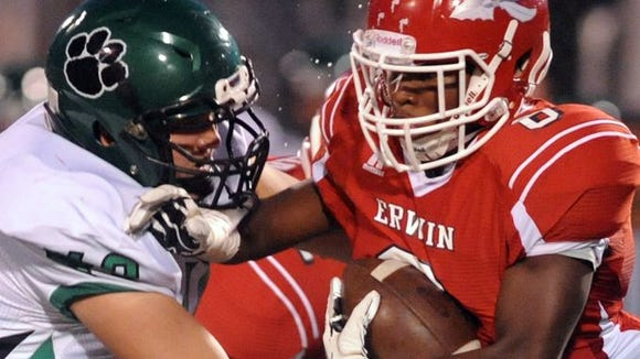 Erwin and Mountain Heritage played Friday night.