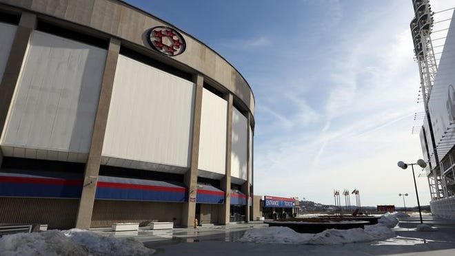 U.S. Bank Arena, left, and Great American Ball Park right. A bid to bring the 2016 Republican National Convention to Cincinnati has brought the arena in to the spotlight.