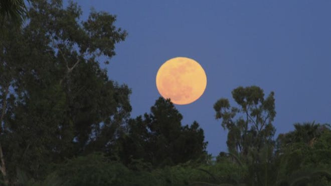 "A ""Supermoon"" photographed in Mesa in May 2012."